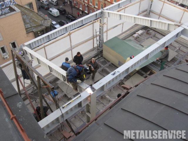 Надстройка зданий из металла в Киеве