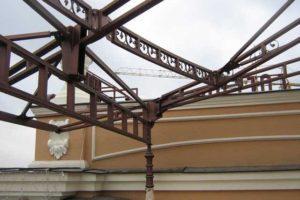 конструкция навеса из металла