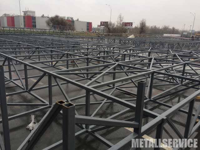 Изготовление тентового павильона из металла на заказ