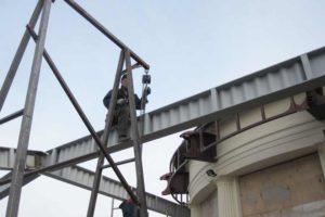 монтаж металлоконструкций на высоте