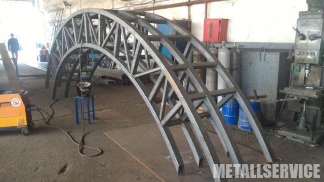 Изготовление металлической фермы 850 кг. (заказ в Киеве)