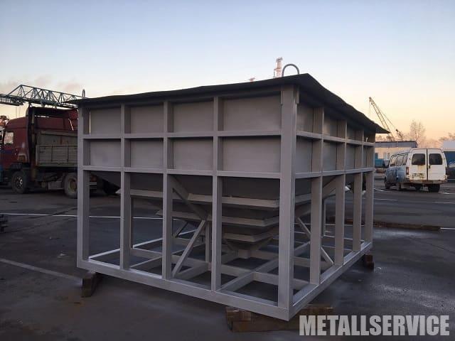 Металлический бункер изготовленный на заказа