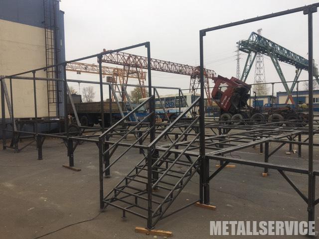 Изготовление сцены из металла