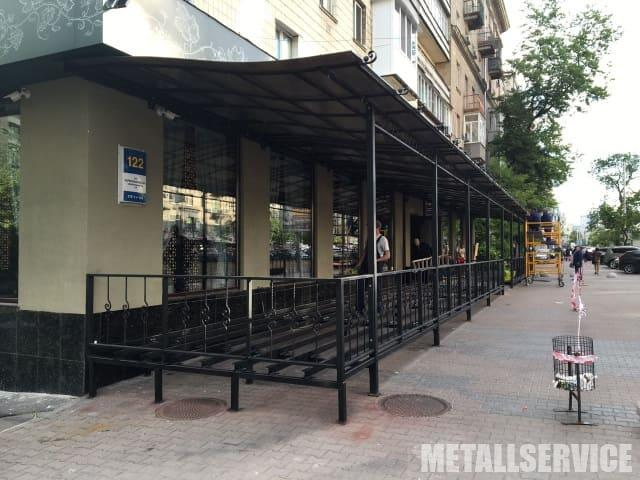 Навесы из поликарбоната, изготовление металлических конструкций для навесов
